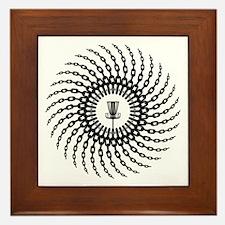 Disc Golf Basket Chains Framed Tile