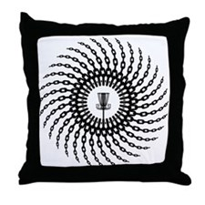 Disc Golf Basket Chains Throw Pillow