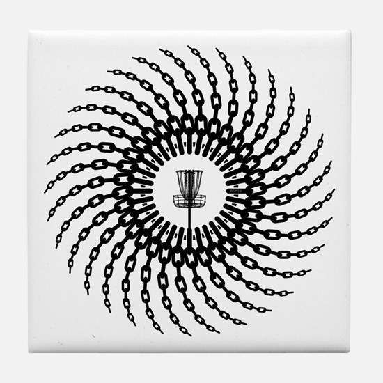 Disc Golf Basket Chains Tile Coaster