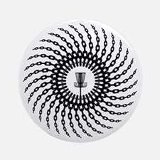 Disc Golf Basket Chains Round Ornament