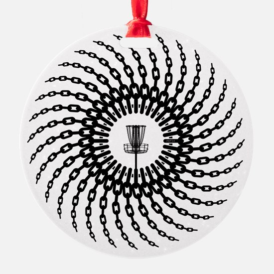 Disc Golf Basket Chains Ornament