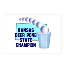 Kansas Beer Pong State Champi Postcards (Package o