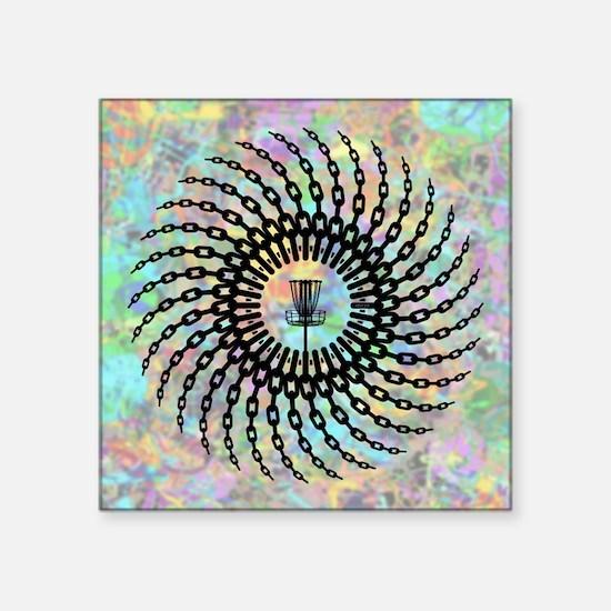 Disc Golf Basket Chains Sticker