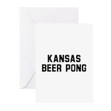 Kansas Beer Pong Greeting Cards (Pk of 10)