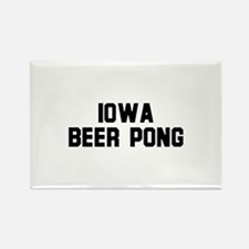 Iowa Beer Pong Rectangle Magnet