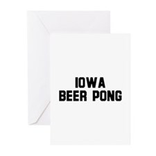 Iowa Beer Pong Greeting Cards (Pk of 10)