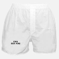 Iowa Beer Pong Boxer Shorts