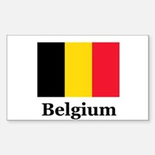 Belgium Rectangle Decal