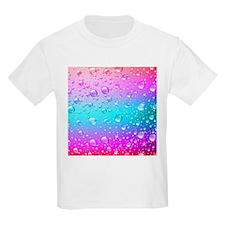 Hot Pink And Aqua Blue Gradient Water Drop T-Shirt