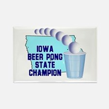 Iowa Beer Pong State Champion Rectangle Magnet