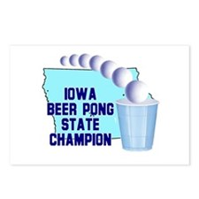 Iowa Beer Pong State Champion Postcards (Package o