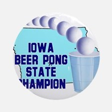 Iowa Beer Pong State Champion Ornament (Round)