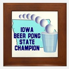 Iowa Beer Pong State Champion Framed Tile