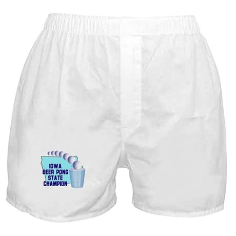 Iowa Beer Pong State Champion Boxer Shorts