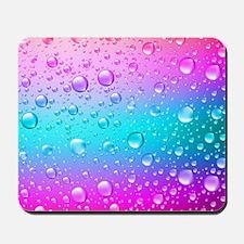 Hot Pink And Aqua Blue Gradient Water Dr Mousepad