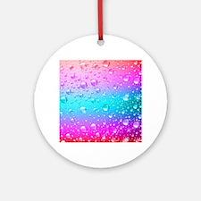 Hot Pink And Aqua Blue Gradient Wat Round Ornament