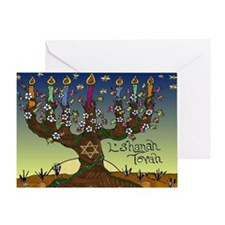 Tree Of Life Lshanah Tovah Greeting Cards