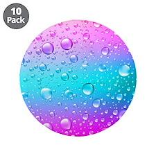 "Hot Pink And Aqua Blue Gradi 3.5"" Button (10 pack)"