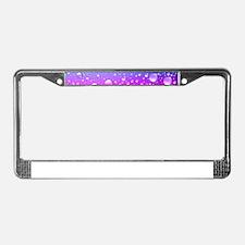 Hot Pink And Aqua Blue Gradien License Plate Frame