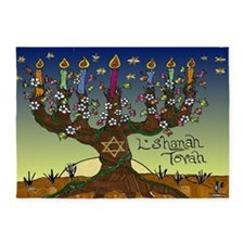 Tree Of Life Lshanah Tovah 5'x7'Area Rug