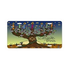 Tree Of Life Menorah Lshanah Tovah Aluminum Licens