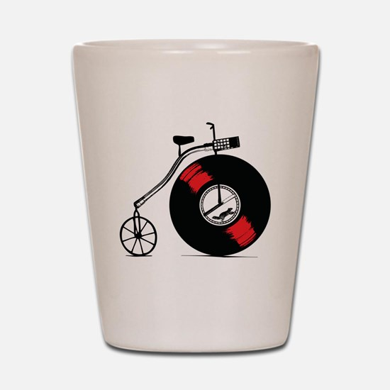 Record Bike Shot Glass