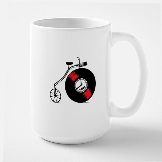 Record Bike Large Mug
