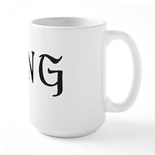 King text label saying Mug