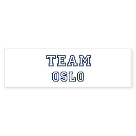 Team Oslo Bumper Sticker