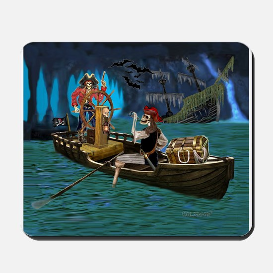 Skeleton Pirates Cave Mousepad