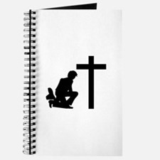 COWBOY KNEELING AT CROSS Journal