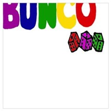 Colorful Bunco Dice Game Art Poster