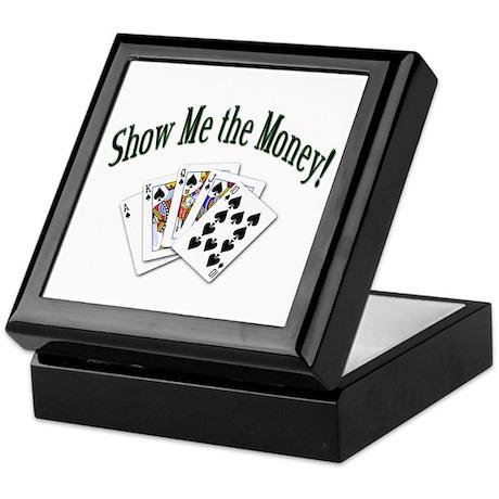Show Me the Money Poker Keepsake Box
