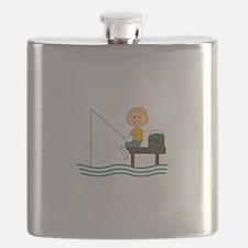STICK BOY FISHING Flask