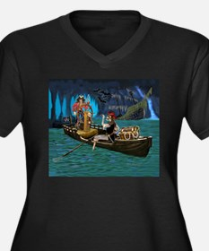 Skeleton Pirates Cave Plus Size T-Shirt