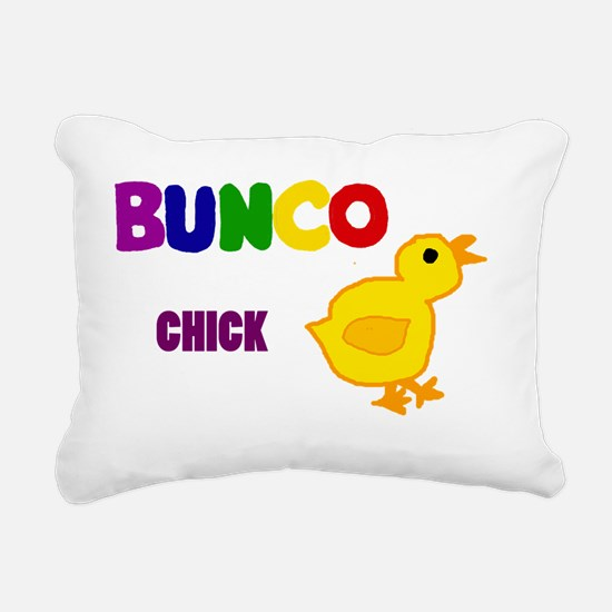 Funny Bunco Chick Art Rectangular Canvas Pillow