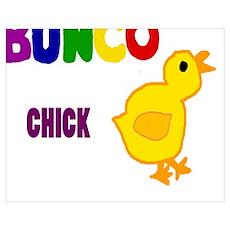 Funny Bunco Chick Art Poster
