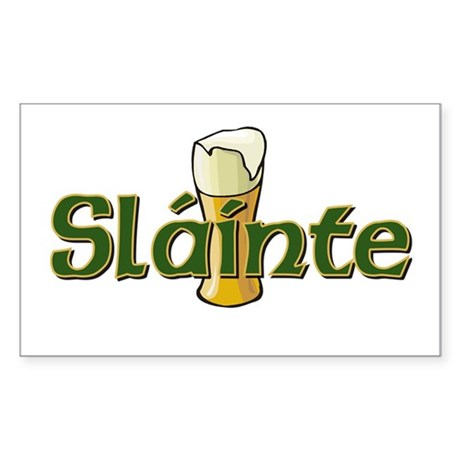 Slainte Rectangle Sticker