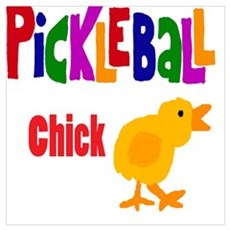 Funny Pickleball Chick Canvas Art