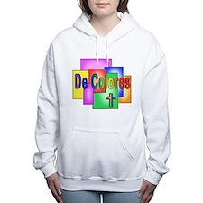 Funny Decolores Women's Hooded Sweatshirt