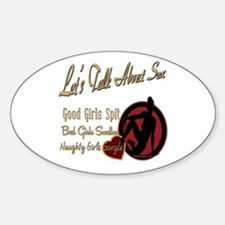 Let's Talk About Sex Series Oval Decal