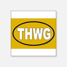 """Cute Thwg euro Square Sticker 3"""" x 3"""""""