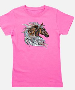 Warm colors horse drawing Girl's Tee