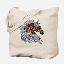 Warm colors horse drawing Tote Bag