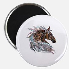 Warm colors horse drawing Magnet