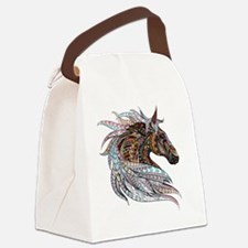 Warm colors horse drawing Canvas Lunch Bag