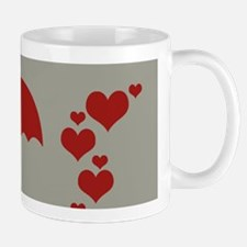 Holiday Season Red Hearts Umbrella Mugs