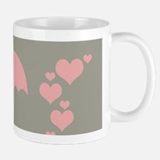 Holiday Season Pink Hearts Umbrella Mugs