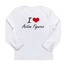 I Love Action Figures artistic Long Sleeve T-Shirt