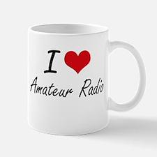 I Love Amateur Radio artistic Design Mugs